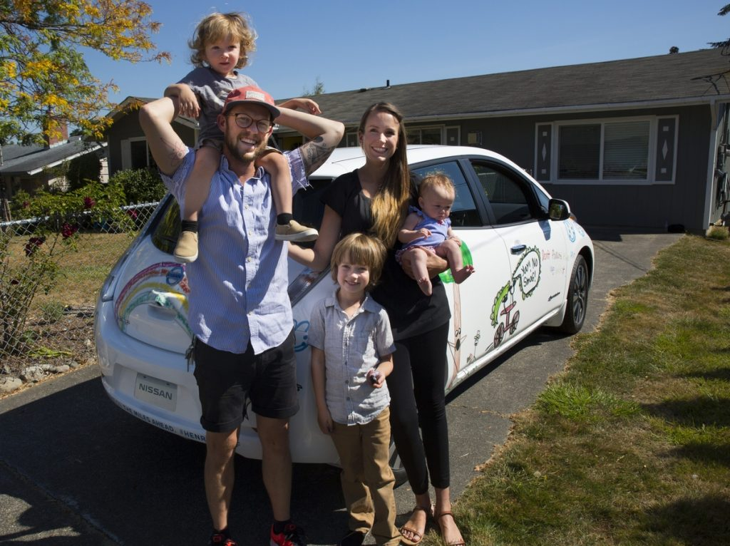 Nissan surprises Henry the Emotional Environmentalist with a custom-designed Nissan LEAF